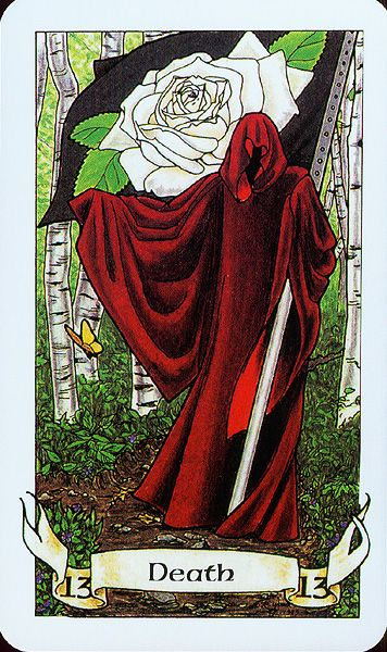 Image result for tarot white rose death card picture