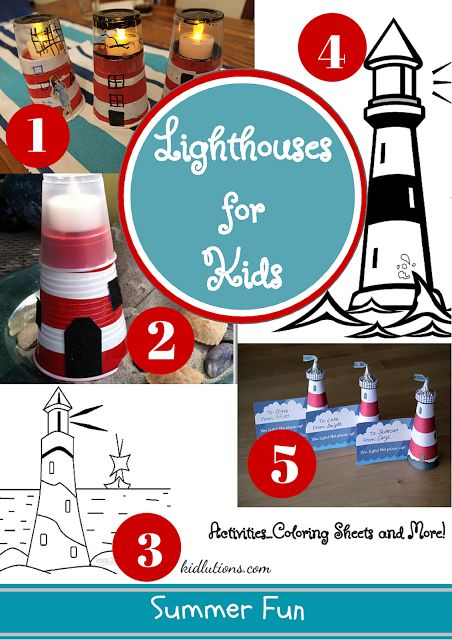 """""""Spin-Doctor Parenting"""": Lighthouse Crafts and Activities for Kids"""