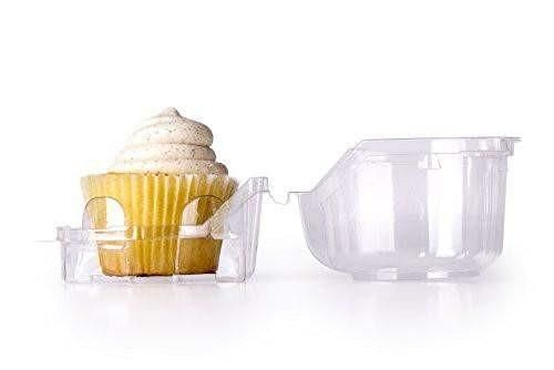 Individual Plastic Cupcake Containers (set of 48)