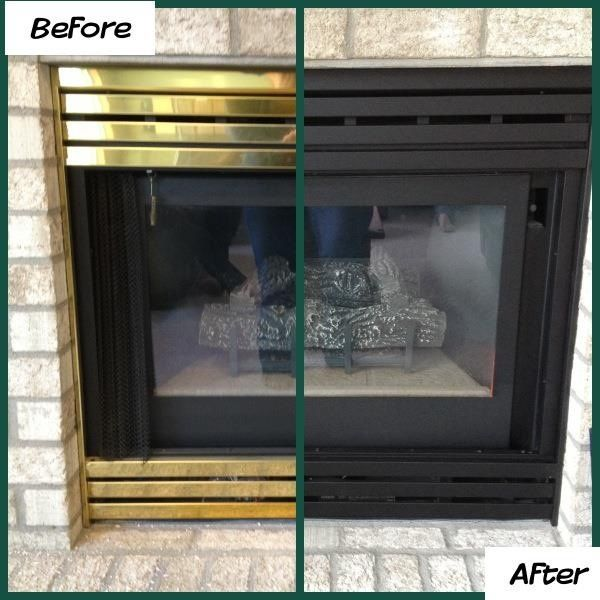 Fireplace brass trim can be painted to get an instant living room fireplace brass trim can be painted to get an instant living room makeover fireplace surrounds spray painting and 1980s solutioingenieria Image collections