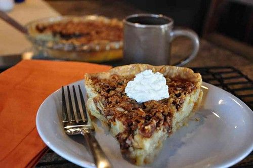 P. ALLEN SMITH'S BUTTERMILK PECAN PIE:  From 'Seasonal Recipes from the Garden' cookbook - I had this today at a luncheon with P. Allen Smith on a tour of his Moss Farm -- I don't like pecan pie and I ate every bite of this.  So good!!!!!!