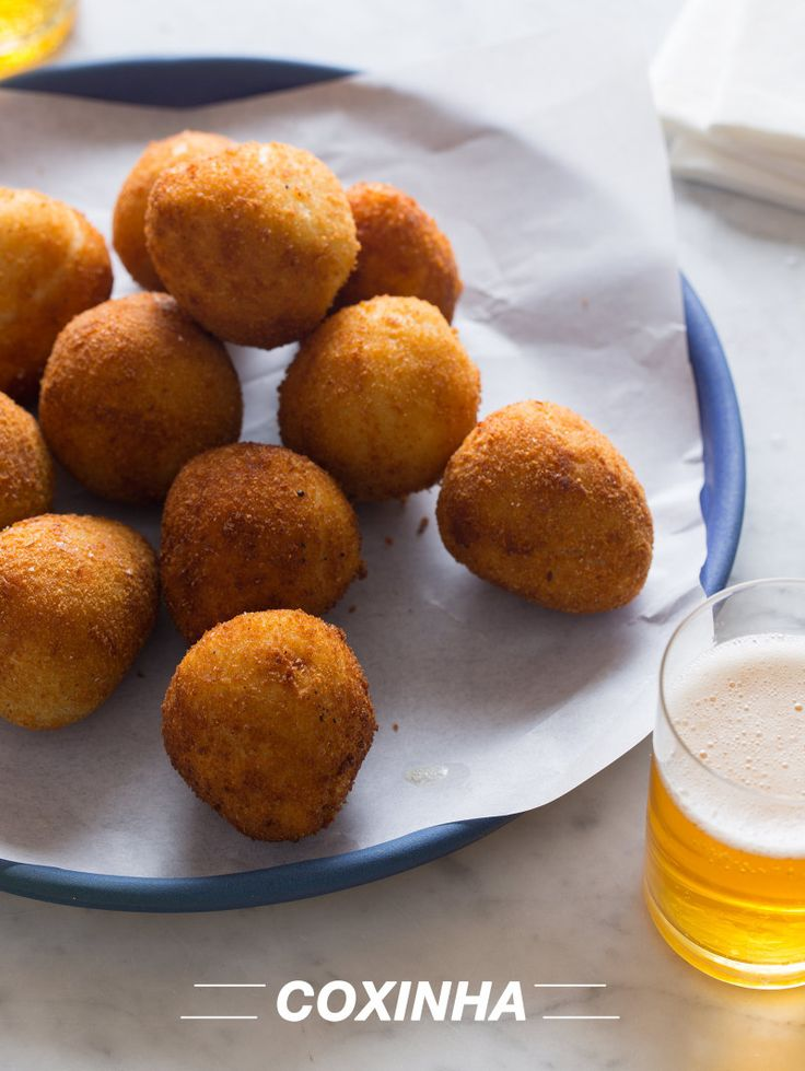 "Coxinha - ""delicious little tear drop shaped, savory filled, fried bites of pure joy""  