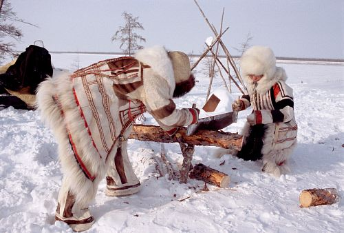 Nganasans, indigenous people inhabiting the Taymyr Peninsula in north Siberia, Russia © Bryan & Cherry Alexander Photography / ArcticPhoto
