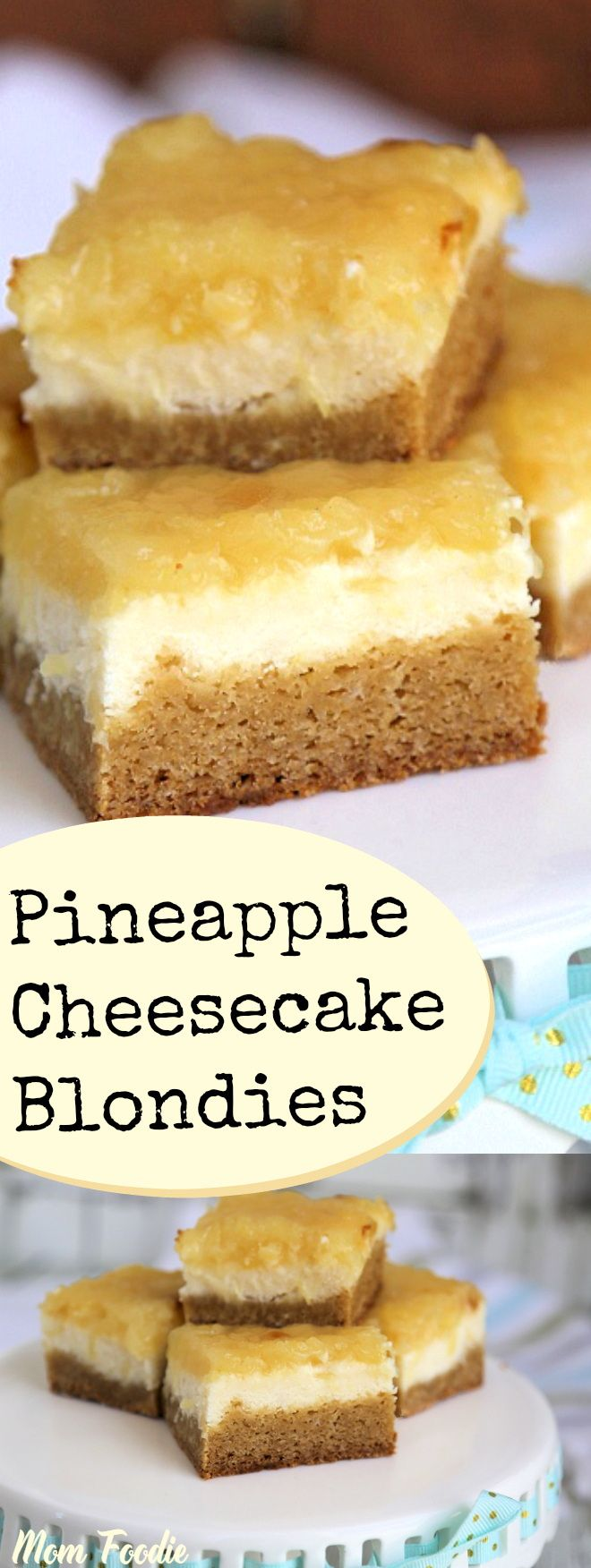 Pineapple Cheesecake Blondies