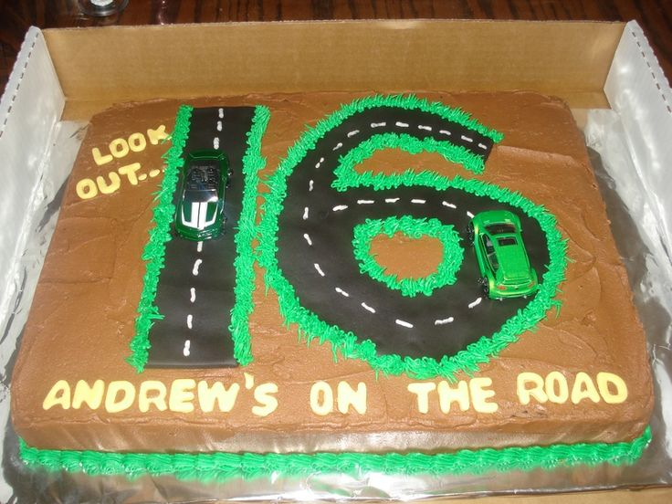 Cake Ideas For A 16th Birthday Party : Boys 16th birthday Cake . Great idea! Party ideas ...