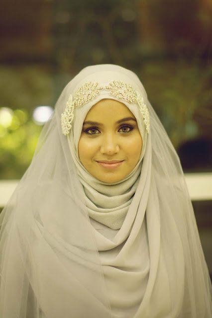 Beautiful Bridal Hijab Tutorial 4