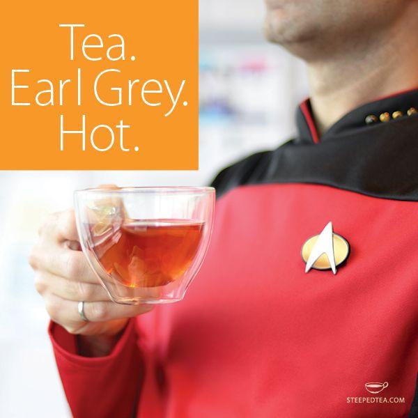 Live long and drink tea. Star Trek - Captain Picard