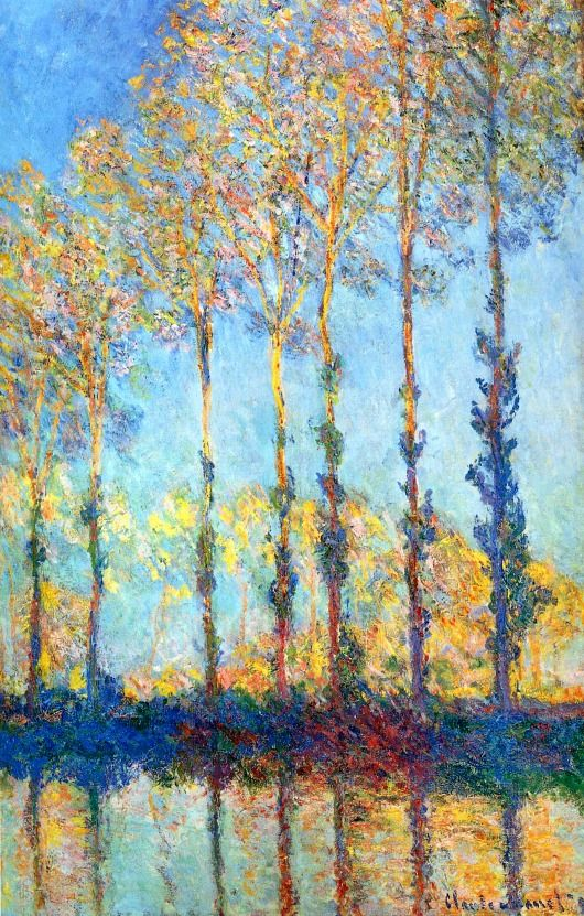 Claude Monet. Poplars on the Banks of the Epte (1891).