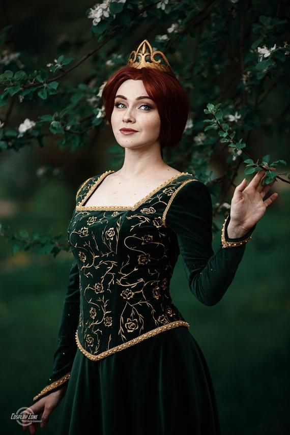 Fiona dress inspired by Shrek Cosplay Halloween costume for Adult