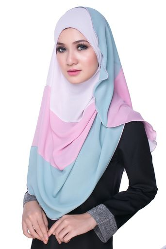 Bikaya Pastel Shawls and Scarves | FINI Rainbow Premium Hijab