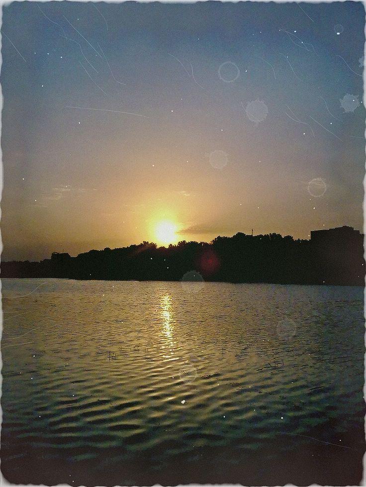 Zayanderud sunset