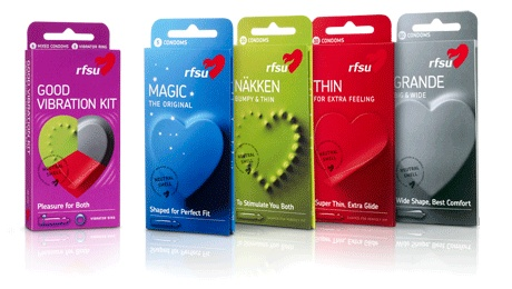 RFSU:n kondomien tuotepakkaukset uudistuvat