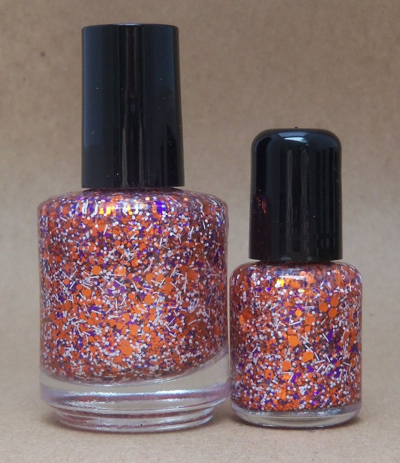 Clemson Tigers Glitter Nail Polish Team Colors