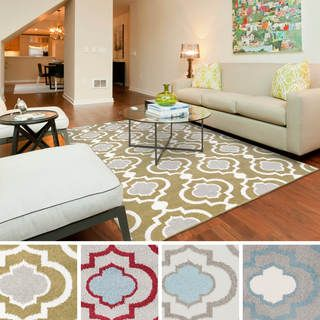 "Overstock.com. Meticulously Woven Vallejo Transitional Geometric Area Rug (9'3"" x 12'6"")"