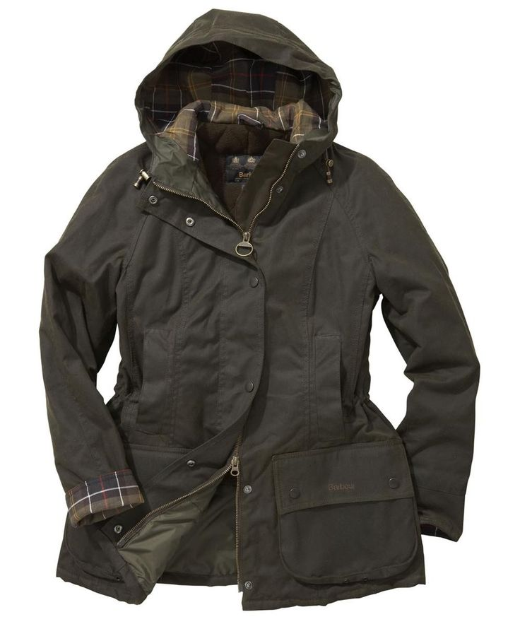 Barbour Beadnell Parka Waxed Jacket Olive