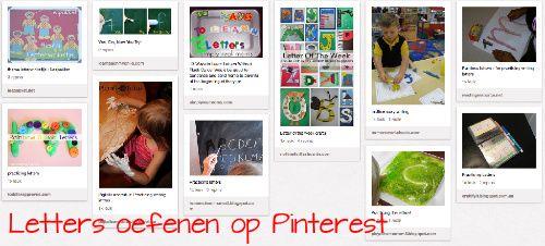 letters oefenen op Pinterest - Lespakket