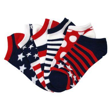 Americana 6 Pair Pack Anklet Socks / Women's