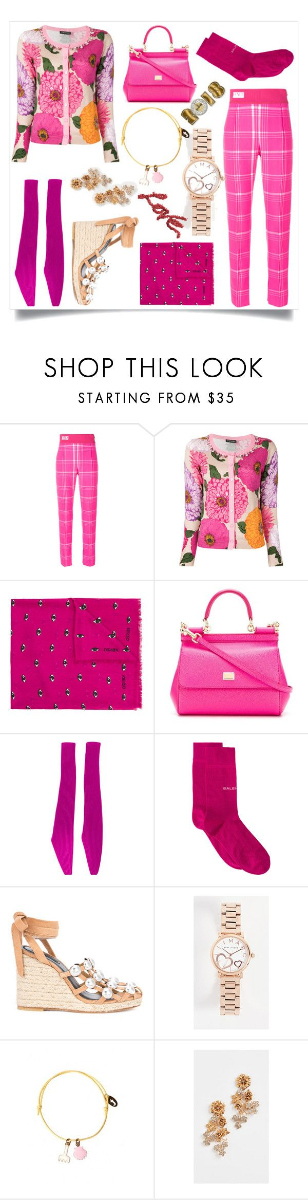 """""""Beautiful and feminine"""" by emmamegan-5678 ❤ liked on Polyvore featuring Fendi, Twinset, Kenzo, Dolce&Gabbana, Calvin Klein 205W39NYC, Balenciaga, Alexander Wang, Marc Jacobs and Jennifer Behr"""