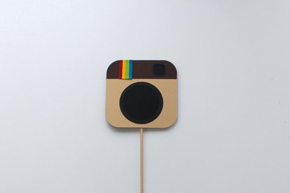 Social Media Photo Booth Props  Instagram Icon / by TOASTEDProps, $8.00