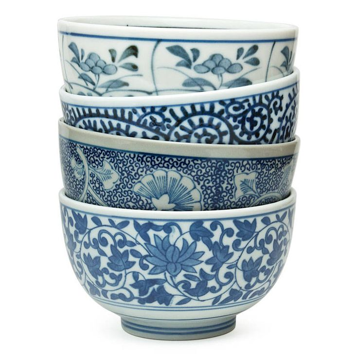 Visit Miya For Our Sometsuke Bowl Set. Beautiful Blue And White Pattern  Dazzles In This Japanese Bowl Set.