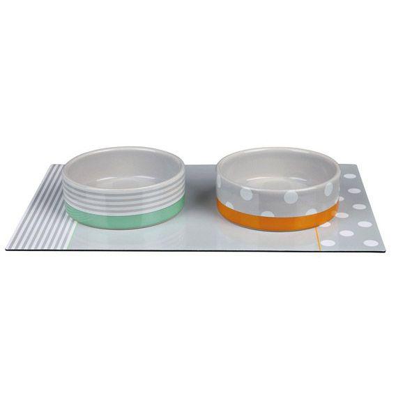 Set keramických misek s prostíráním 2x0,3l/12cm/35x22cm