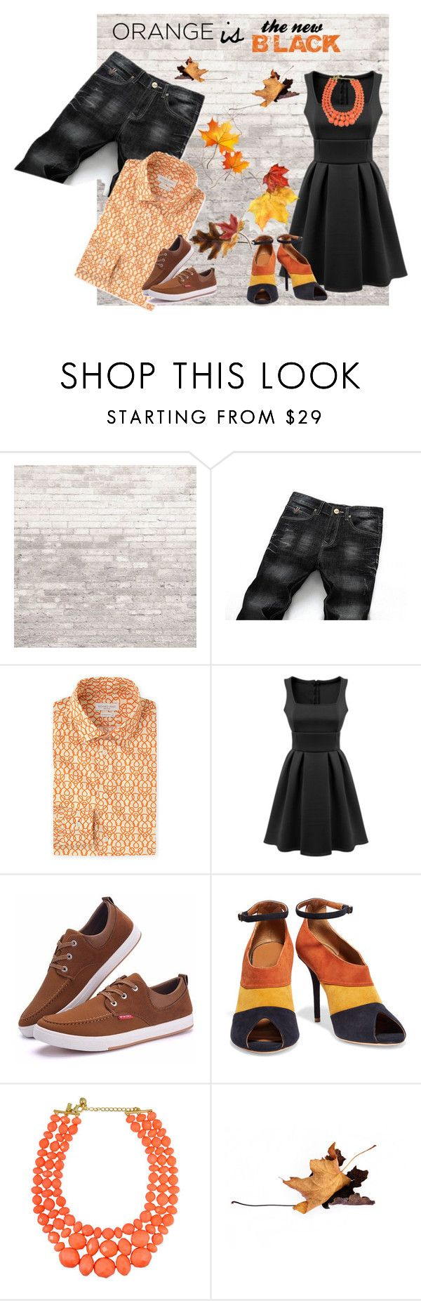 """Orange is the new Black"" by nimas on Polyvore featuring WALL, Richard James, Malone Souliers, Anne Klein and Bastien"