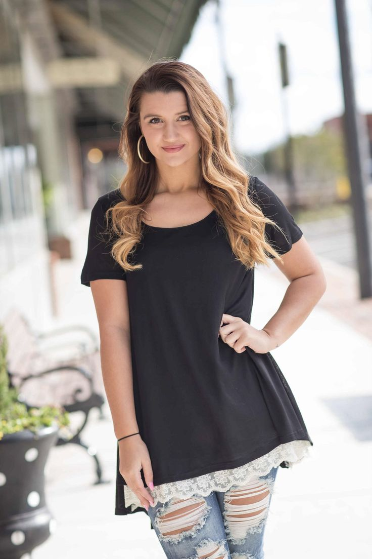 Girls Night Out Top - Black