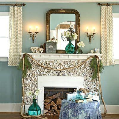 35 best Coastal Beach Fireplaces & Mantels images on Pinterest ...