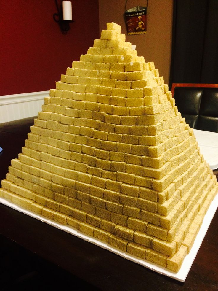 how to make a pyramid out of styrofoam blocks