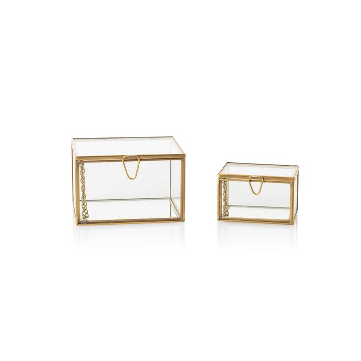 Glass Nesting Boxes : Gold glass nesting trinket boxes for the home pinterest