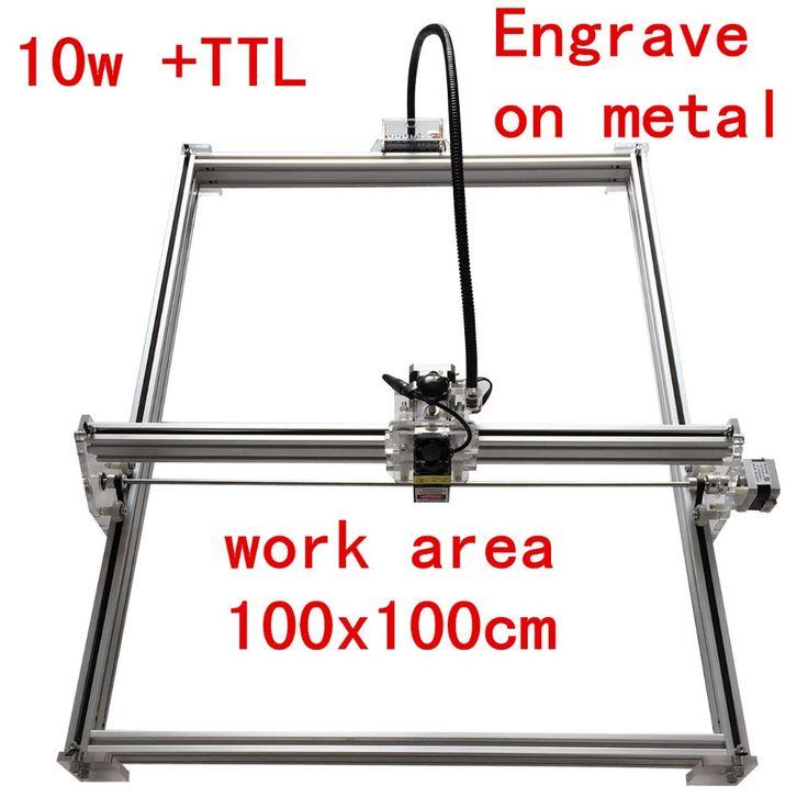 promo 10000mw mini desktop diy laser engraving engraver 10w cutting machine laser mark on metal 100100cm #laser #marking