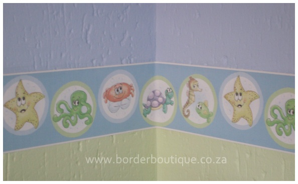 Wallpaper border - code 066 under the sea - 2 tone paint is recommended as it gives the room more depth and character!
