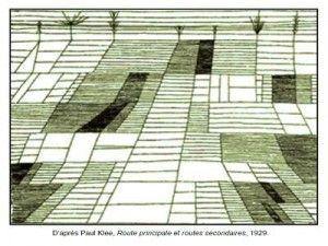 Paul Klee Route principale et routes secondaires