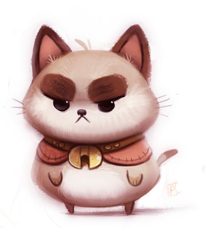 Daily Paint 683. Puppycat by Cryptid-Creations.deviantart.com on @deviantART