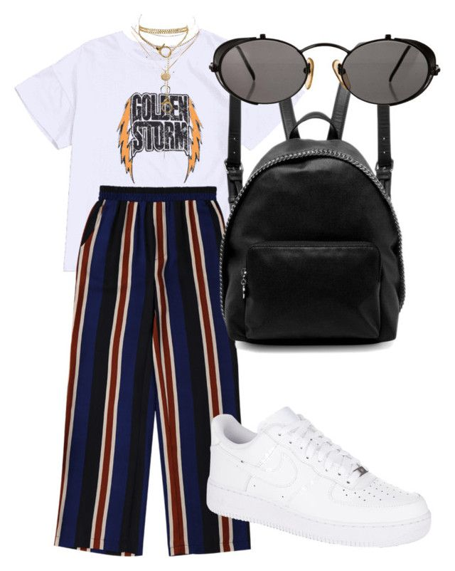 """""""COOL GIRL"""" by directioner91 ❤ liked on Polyvore featuring NIKE, STELLA McCARTNEY, Jean-Paul Gaultier and Charlotte Russe"""