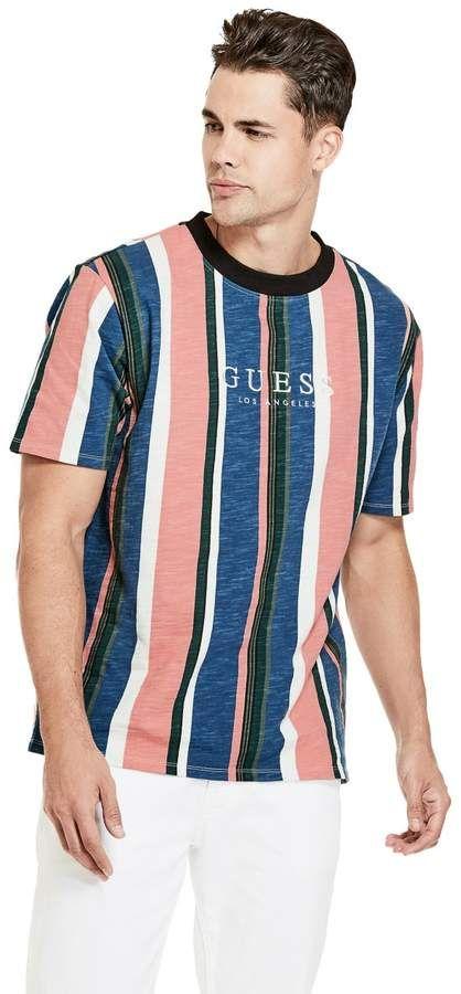 e06d421b GUESS Men's GUESS Men's Originals Oversized Sayer Striped Tee ...