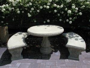 Concrete Patio Sets, Picnic Tables, Park Benches
