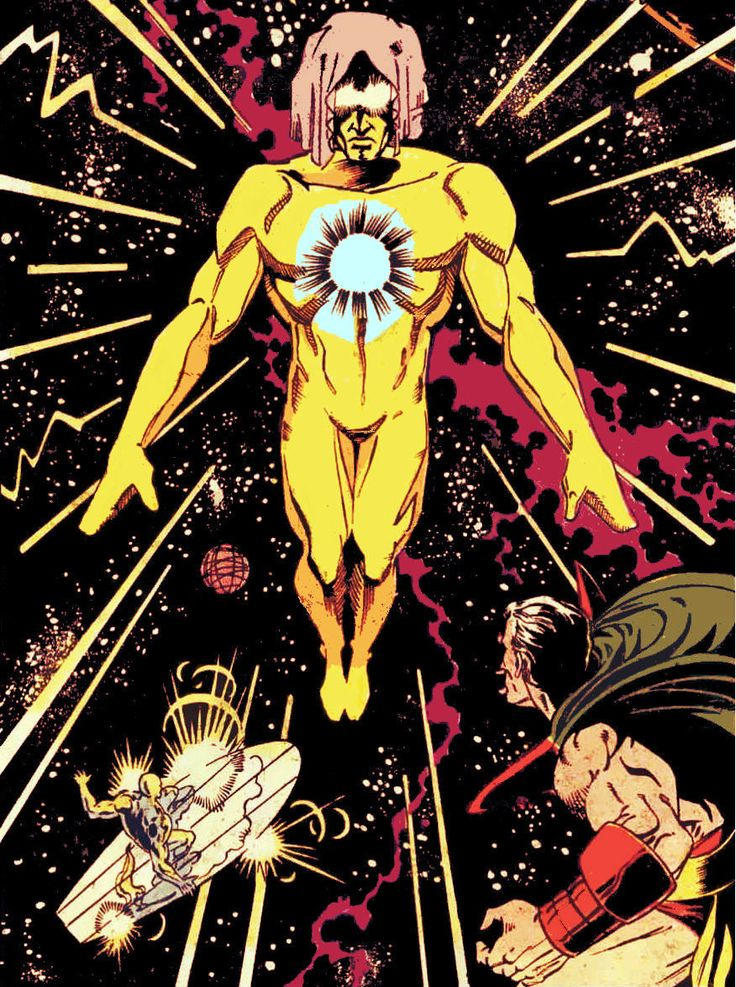 Silver Surfer, Living Tribunal and Strange by Ron Lim