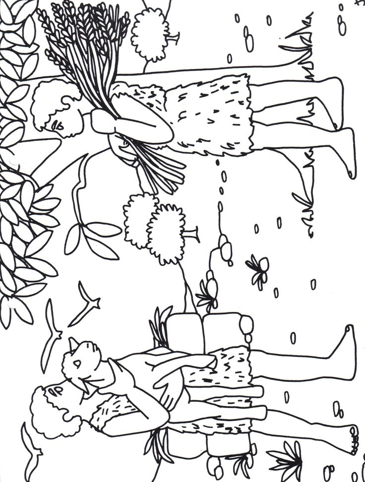can y abel para colorear - Bible Coloring Pages Cain Abel