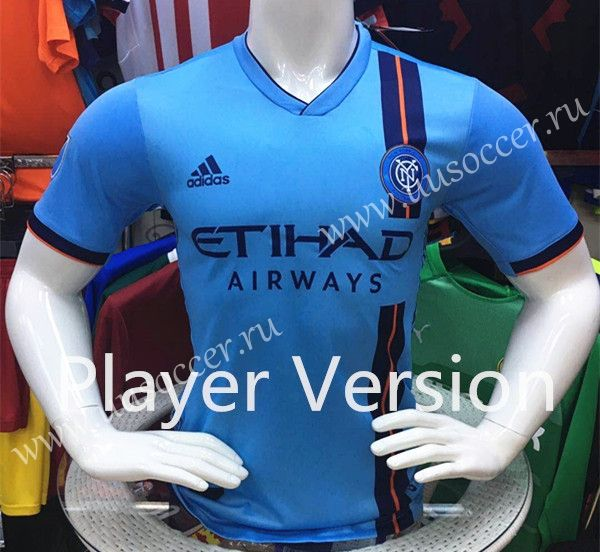 Player Version 2019 2020 New York City Home Blue Thailand Soccer Jersey Aaa 807 Soccer Jersey Soccer Football Sweater