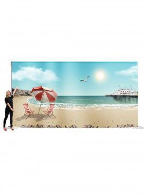 Event Prop Hire: Seaside Backdrop