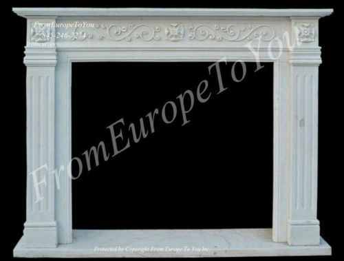 Details about HAND CARVED MARBLE ESTATE EUROPEAN DESIGN CLASSICAL FIREPLACE MANTEL TLE33