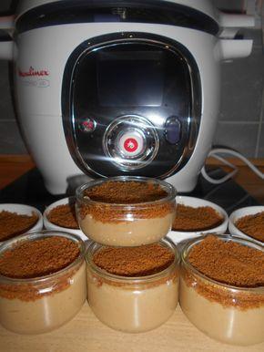 Crème Aux Spéculoos au Cookeo Ingrédients: - 750ml de lait - 2 oeufs (battus) - 100 gr de sucre - 30 gr de Maizena - 100 gr + 50 gr de spéculoos réduits en poudre Préparation: - Dans la cuve du cookeo, mélanger le sucre avec la maïzena puis y mélanger...