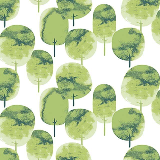 Saarni print in apple green: designed by Osmi Koskinen || Omenan vihreä Saarni-kuosi: suunnittelija Osmi Koskinen