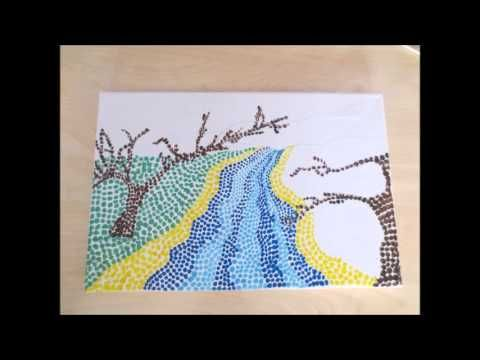 Puntillismo paisaje - YouTube