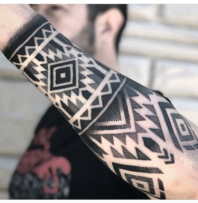 Black And White Pattern Tattoo Tattoos For Guys Pattern Tattoo