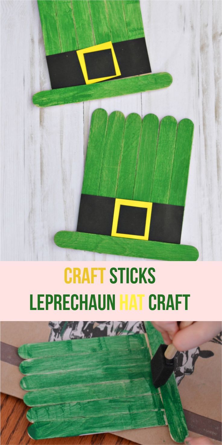 Craft Sticks Leprechaun Hat Craft