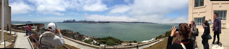 View of SF from Alcatraz Prison National Historic Site....