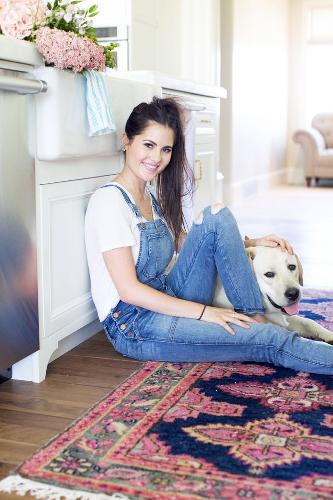 Preppy casual with persian rug :)