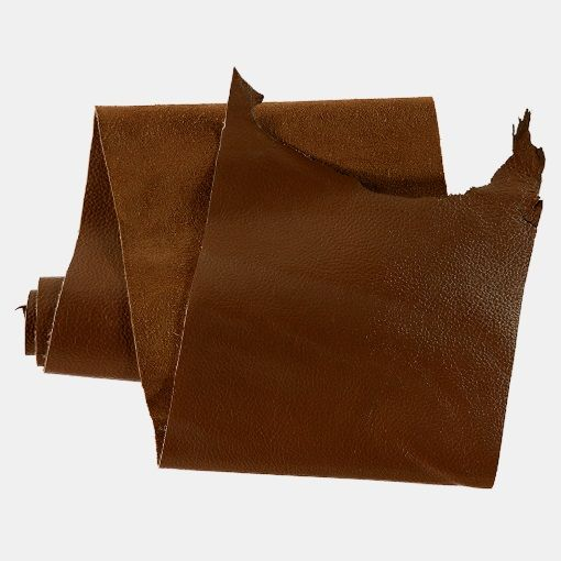Bøffel læder cognac ca. 20 x 100 cm - STOFF & STIL